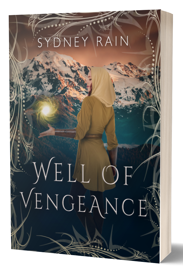 Image of a 3D book with Well of Vengeance as the cover